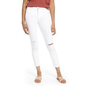 """NWT Madewell 34 Tall 9"""" mid rise skinny crop jeans"""